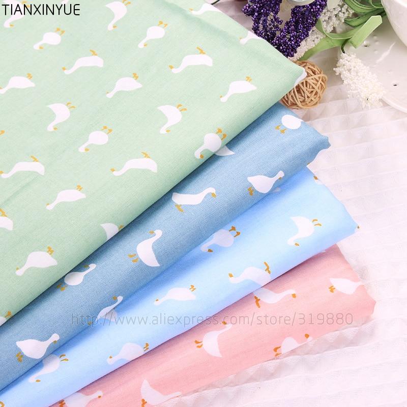 Cisne tela 4 unids 40*50 cm ropa de Cama de Tejido Textil para el Hogar ropa de