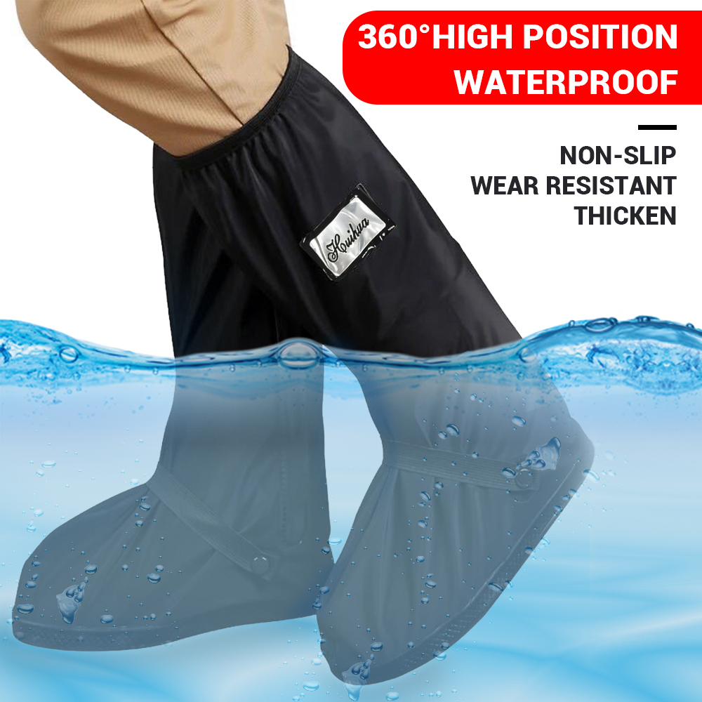 Hot Motorcycle Rain Shoes Covers Rainproof Reflective Waterproof Bicycle Cycling Motorcycle Boots Overshoes Moto Boots Reusable