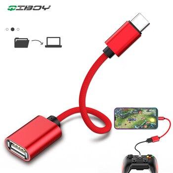 Adaptateur de câble USB OTG de Type C pour Xiaomi Redmi Note 7 connecteur de USB C type-c pour Samsung S10 Huawei tablette USB 2.0 OTG Adaptador