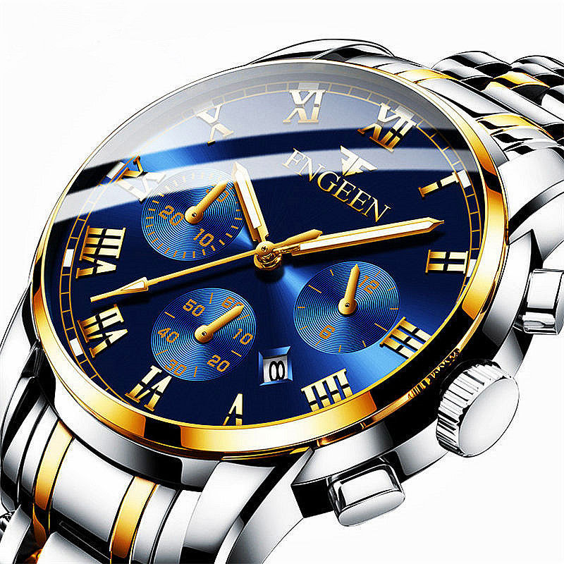 FNGEEN Top Luxury Brand Men Watch Back Light Hands Business Fashion Casual Men Quartz Watches Waterproof Clock Montre Homme