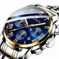 FNGEEN haut de gamme marque hommes Montre rétro-éclairage mains affaires mode décontracté hommes montres à Quartz étanche horloge Montre homme