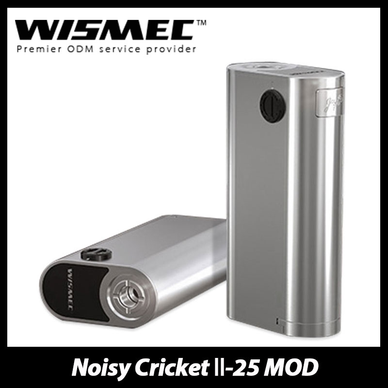 Original WISMEC Noisy Cricket 2 Box MOD 25mm Diameter font b Electronic b font font b