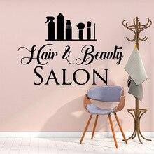 Hot Sale hair and beautiful salon Wall Sticker Pvc Paper Waterproof Decor Decals