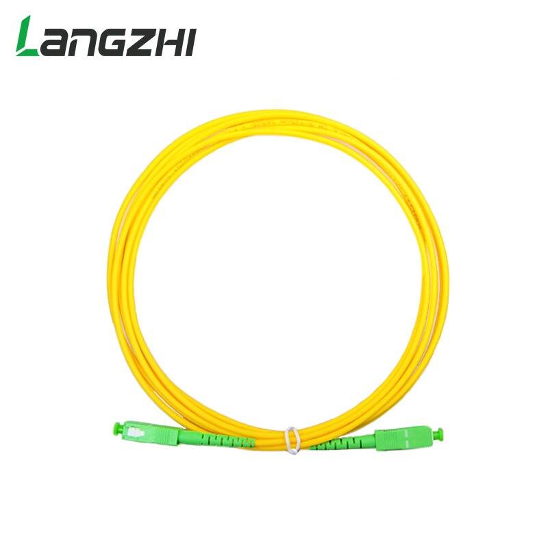 10PCS/bag SC APC 3M Simplex Mode Fiber Optic Patch Cord Cable SC APC 2.0mm Or 3.0mm FTTH Fiber Optic Jumper Cable Free Shipping