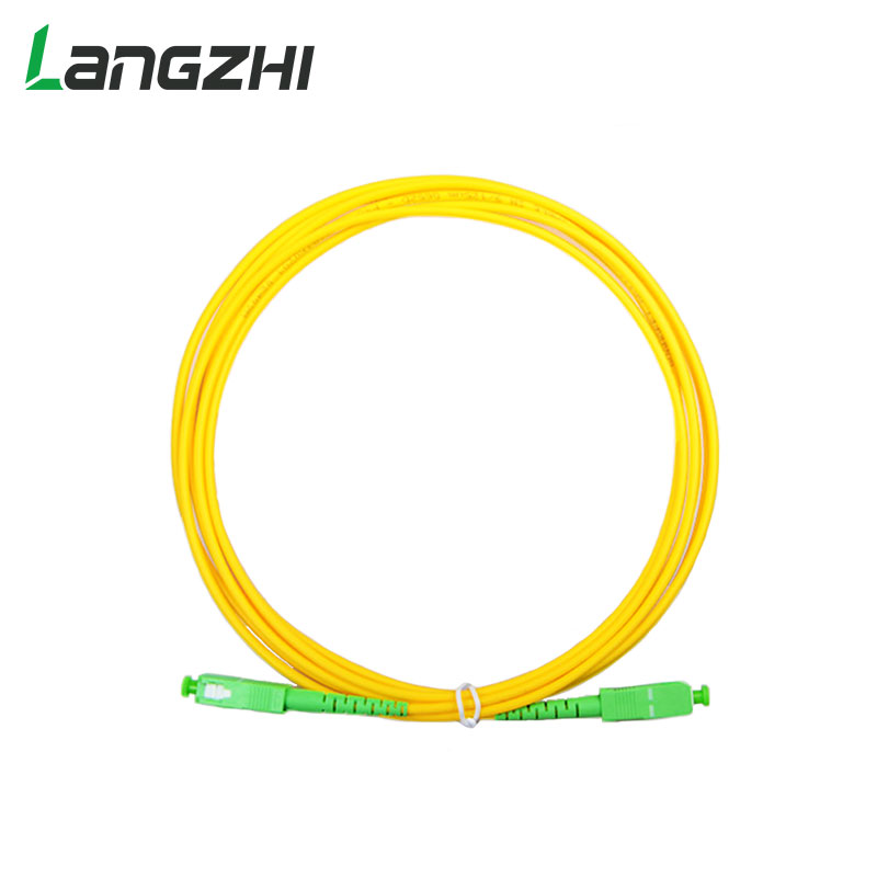 10pcs/bag Sc Apc 3m Simplex Mode Fiber Optic Patch Cord Cable Sc Apc 2.0mm Or 3.0mm Ftth Fiber Optic Jumper Cable
