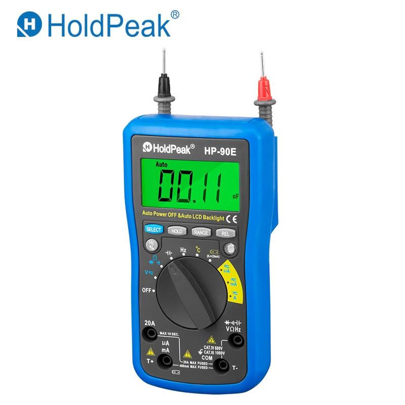 Professional Multimetro Digital HoldPeak HP 90E Measure Instrument Digital Auto Range Multimeter with Data Hold Battery