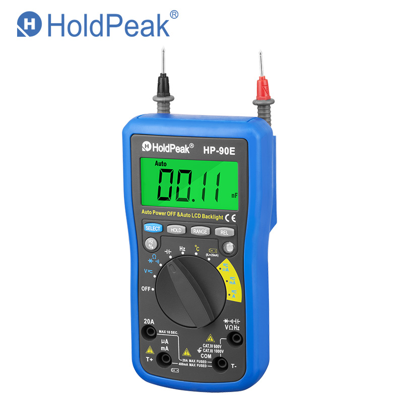 Professional Multimetro Digital HoldPeak HP 90E Measure Instrument Digital Auto Range Multimeter with Data Hold Battery Test 90E in Multimeters from Tools
