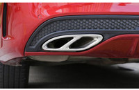 Car AMG Exhaust Cover Outputs Tail Frame Trim For Mercedes Benz GLC A B E C Class W205 Coupe W213 W176 W246 2016 2017 Accessory