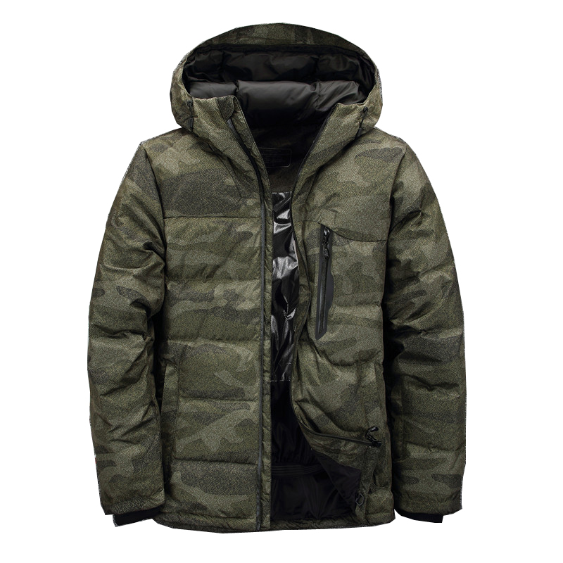 2018 Fashion Brand Winter Men Jacket Casual Down jacket Men Camouflage Thick Parka Men Outwear Men Down jacket Windbreakers