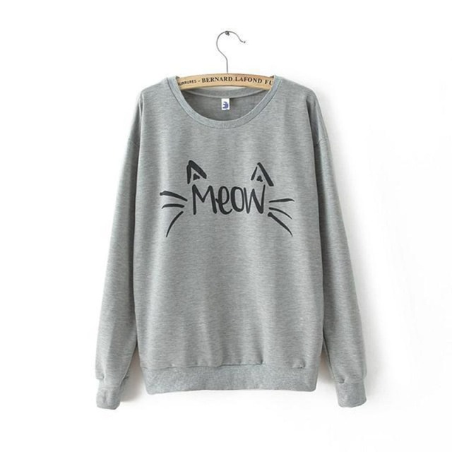 Meow Cute Kitty face Women's Sweatshirt