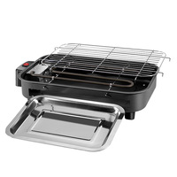 New High Qulity 1300W 220V Electric Barbecue Tabletop Grill Hiking Garden Camping Picnic BBQ Grill Stainless Steel Baking Tray
