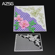 AZSG Lace Hollow Metal Cutting Dies for DIY Scrapbooking Photo Album Decoretive Paper Card Embossing Stencial