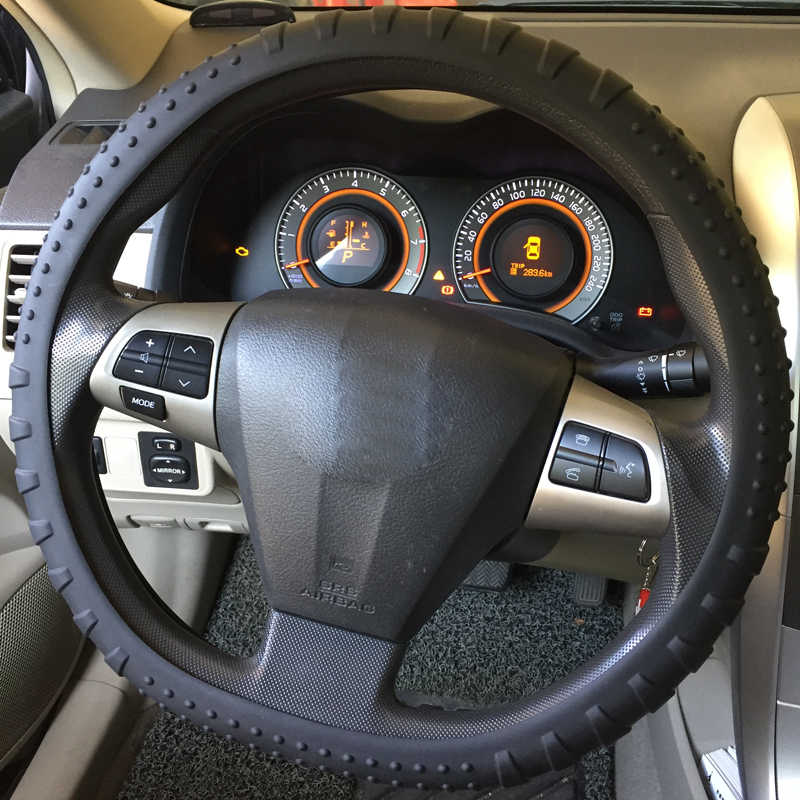 Huier シリコーン環境保護車のステアリングホイールカバー抗スリップ 36-40 センチメートル車のスタイリングのステアリング輪カバー車カバー