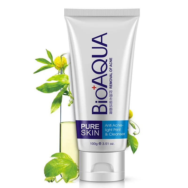 Oil-control Deep Cleansing Foam Reduce Pores 100g Clean Product Hot Sale Acne Treatment Black Head Face Cleanser Remove TSLM1