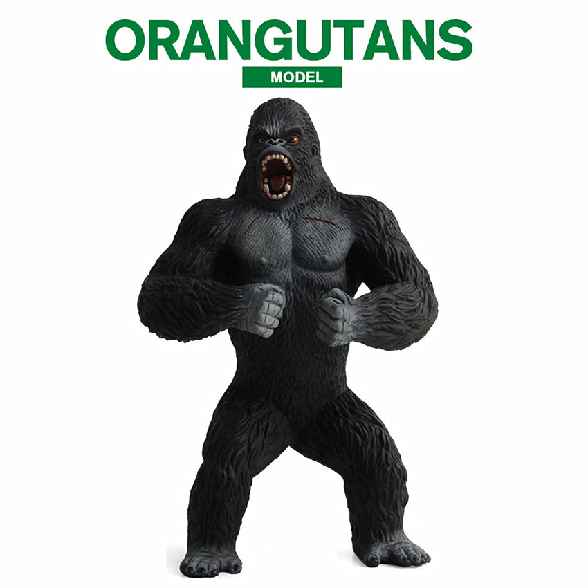 19CM Simulation Caesar Model Chimpanzee Movies Wild Animals Monkey Home Decorations PVC Action Figure Gorilla Collectible Toy mr froger carcharodon megalodon model giant tooth shark sphyrna aquatic creatures wild animals zoo modeling plastic sea lift toy