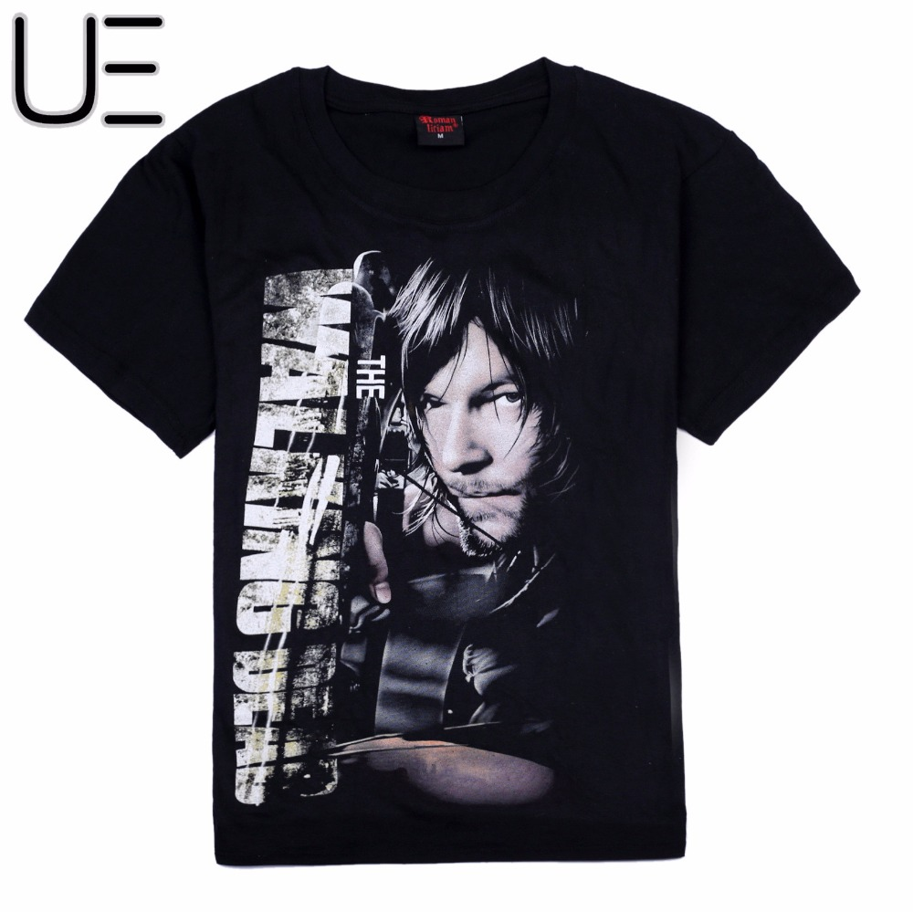 Black t shirt low price - Men S The Walking Dead 5 Daryl Cotton Black T Shirts Daryl China Mainland