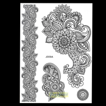 1 Sheet Popular Disponsable Tattoo Henna Sexy Women Lace Stencil BJ009A Mixture Picture Mehndi Temporary Tattoo Stickers Pattern