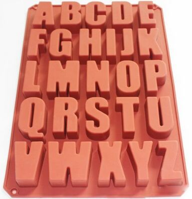 Alphabet <font><b>Letter</b></font> Soap Ice Cube Chocolate Candy Soap Silicone Mold <font><b>Cake</b></font> <font><b>Decoration</b></font> Pan image