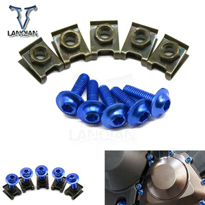 Image 1 - 5PCS universal Motorcycle Accessories Fairing Bolt Spire Speed Fastener Clips Screw  for BMW C600/650Sport  C650GT C650GT F700GS