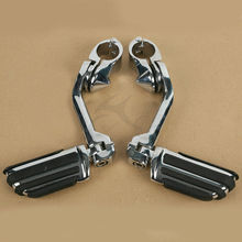 Motorcycle New Long Highway Foot Pegs For Harley Electra Road King Street Glide 1-1/4 32mm Bar