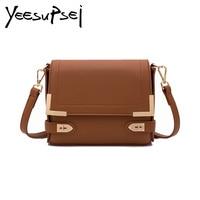 YeeSupSei Small Bag Handbag Women Famous Brand Women Messenger Bag Flap Embroidery Purse Golden Lock Handbag Designer Sac a Main