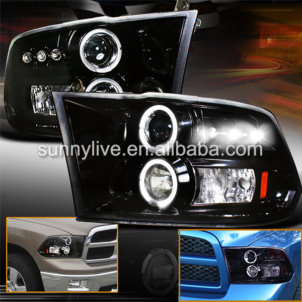 2009-2012 Headlights For Dodge Ram RAM PICK UP 1500  2500 3500 JY xyivyg 02 08 for dodge ram chrome 1500 2500 3500 hd mirror 4 door handle tailgate abs cover