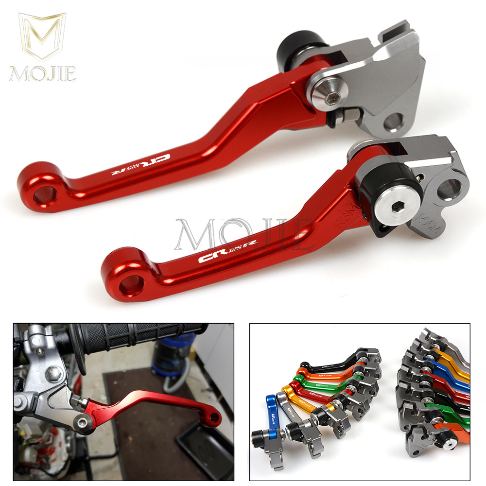 For Honda CR125R CR250R CR 125 250 R CR125 CR250 R CR 125R 250R 1992-2003 2002 2001 2000 CNC Pivot Brake Clutch Levers Dirt Bike цена