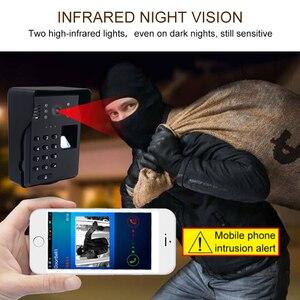 Image 4 - Wifi וידאו דלת טלפון חכם אלחוטי פעמון RFID סיסמא דלת טלפון אינטרקום טביעות אצבע נעילה נייד וידאו פעמון