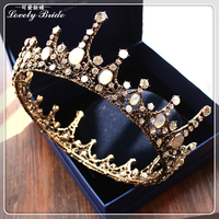 European style retro Baroque crystal crystal Jewel Crown bride dress studio portrait photo products banquet