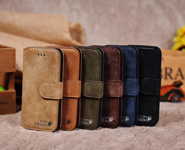 vintage matte genuine leather phone case Wallet Flip Book Card Holder iPhone 5 5s - Boutique Phone Case Store store