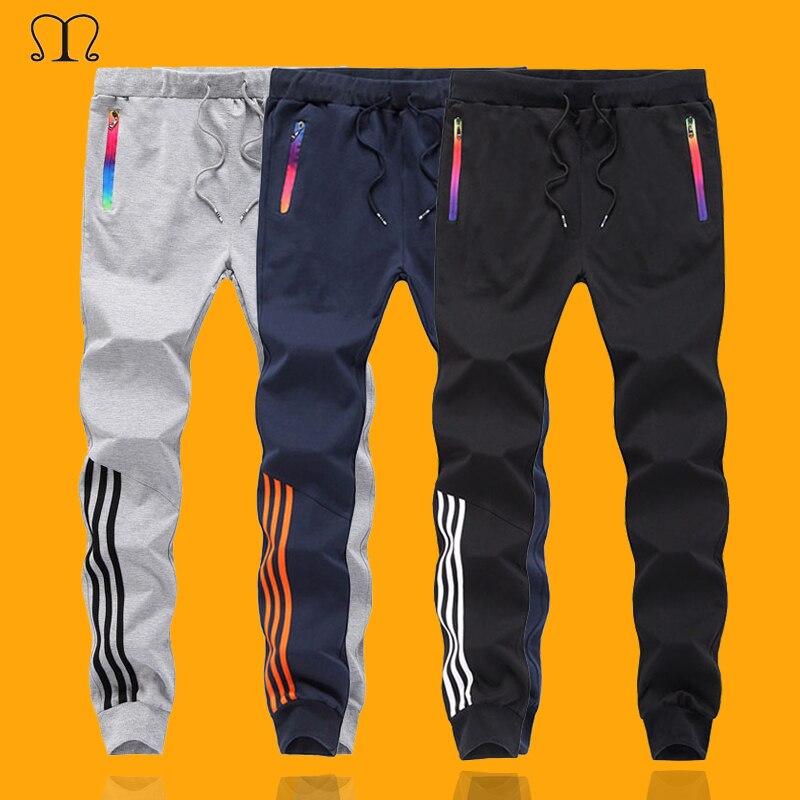 Men Pants Hip Hop Harem Joggers Pants 2019 Casual Trousers Mens Fitness Sweatpants Striped Pants Gyms Clothing Plus Size 5XL
