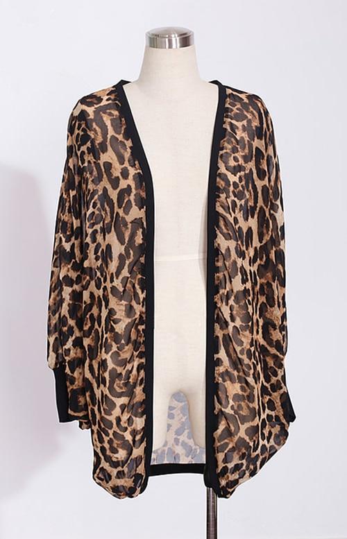 eaec0aaef0 2019 Sexy Leopard Kimono Cardigan Women Fashion Ladies Chiffon Shirt ...