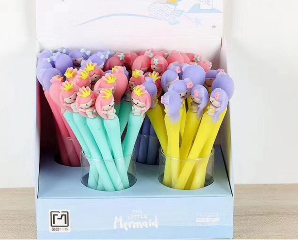 korea cute little Mermaid gel pen cartoon stationery prize kawaii stydent pen office writing pen black