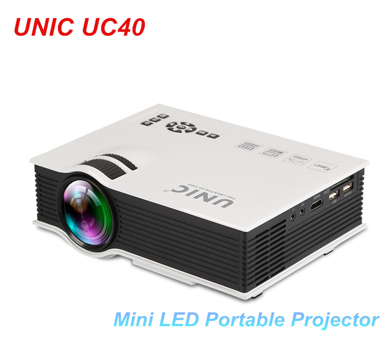 UNIC UC40 Mini Pico portable 3D Projector HDMI Home Theater beamer multimedia proyector Supports Full HD 1080P Video USB AV HDMI 2015 newest original mini pico portable full hd 3d projector hdmi home theater beamer multimedia proyector full hd 1080p video