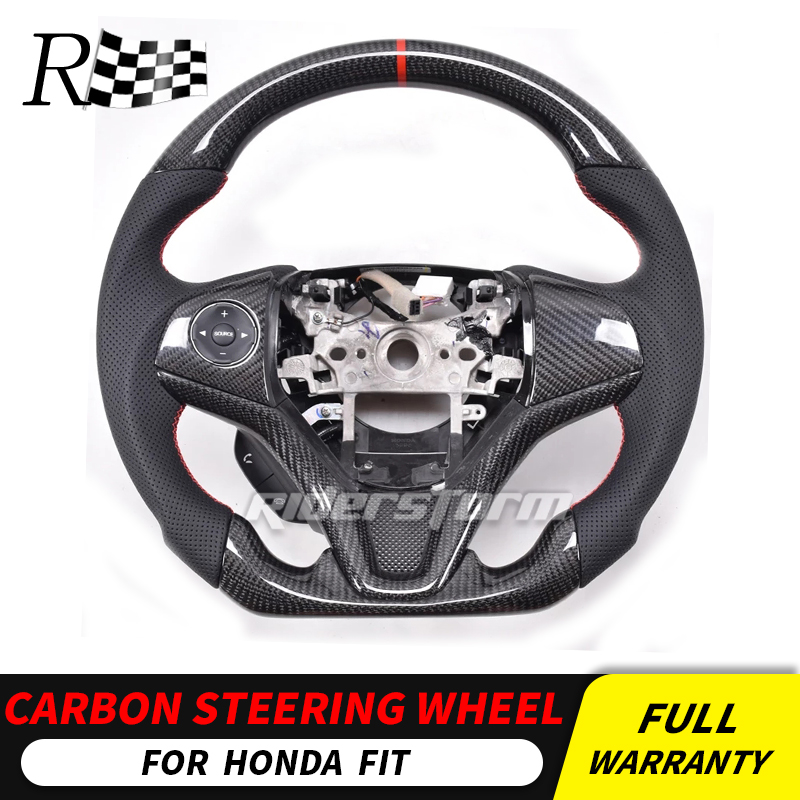 For Honda  fit Carbon Fiber Steering Wheel For Universal Replace steering wheel control button paddle shifter steering wheel|Steering Wheels & Horns| |  - title=