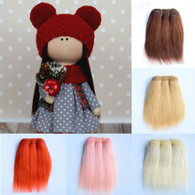 1pcs Hair Extensions 18cm Straight Wool Pieces for American Blyth BJD Dolls DIY Doll Wigs Accessories Wefts