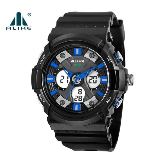 447c9cf24de4 Alike 50 m impermeable de los hombres relojes deportivos relogio masculino  2016 hombres reloj deportivo de