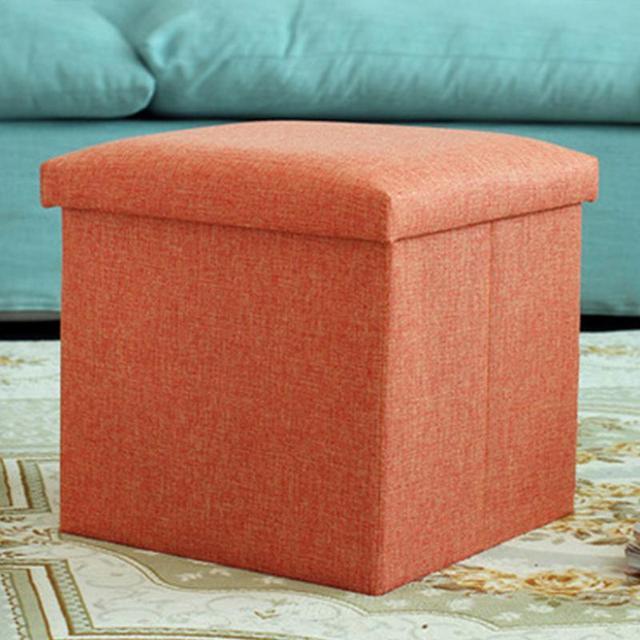 Prime Us 18 23 Aliexpress Com Buy Hight Quality Linen Pouffe Practical Simple Multifunctional Storage Box Seat Folding Stool 25 25 25Cm Gray Green Uwap Interior Chair Design Uwaporg