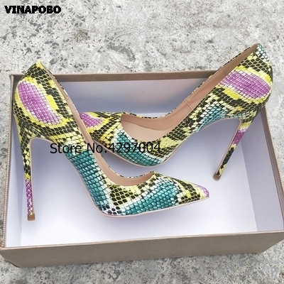 Talons Mode Pompes Nouvelle Serpent Stiletto Chaussures Cm Classique 10cm 43 Femmes De Mariage Vinapobo Haute Impression 8cm Taille 12cm Parti Sexy 2019 12 Fq84x4