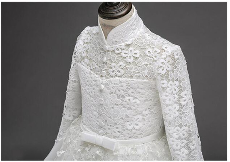 HTB1oSIIQpXXXXc5XVXXq6xXFXXX4 - 2017 Flower Girl Dress For Wedding Pageant Prom Party White Lace Dress Baby Kids Clothes Toddler Children Events Special Gown