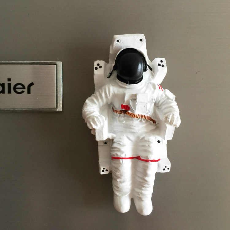 Astronauta astronauta collettore Memorial frigorifero magnete attaccato al Cinese 3D magnetico