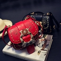 Luxury Brand Designer Handbag Small Women Rivet Chain Bags Ladies Plaid Cover Crossbody Bag For Women SAC A MAIN Femme 831
