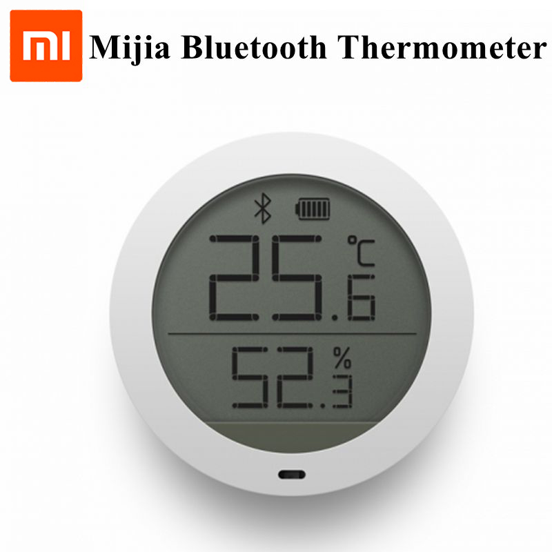 Xiaomi Mijia Bluetooth Hygrothermograph Temperature Humidity High Sensitive Sensor Digital LCD Screen with Mi Home APP Control temperature and humidity sensor protective shell sht10 protective sleeve sht20 flue cured tobacco high humidity