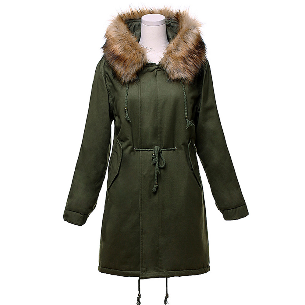 Winter Jacket Women New Long Parka Real Fur Coat Big Collar Hooded Parkas Thick Outerwear Stree Style real fox fur liner winter jacket women new long parka real fur coat big raccoon fur collar hooded parkas thick outerwear