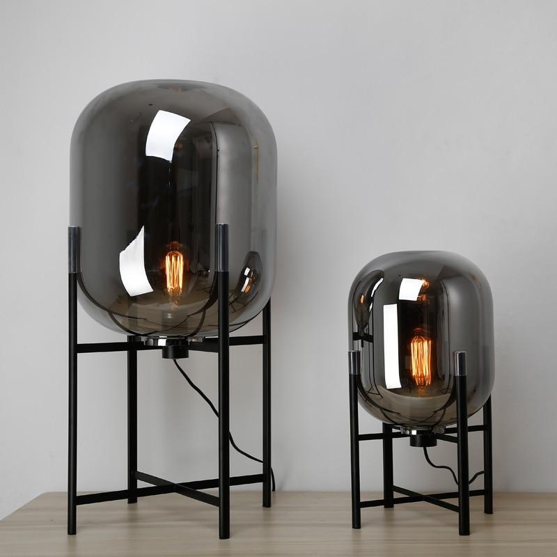 Современный стеклянный стол лампы творческий Стекло украшения настольная лампа спальня Стекло светильники прикроватной тумбочке светоди...