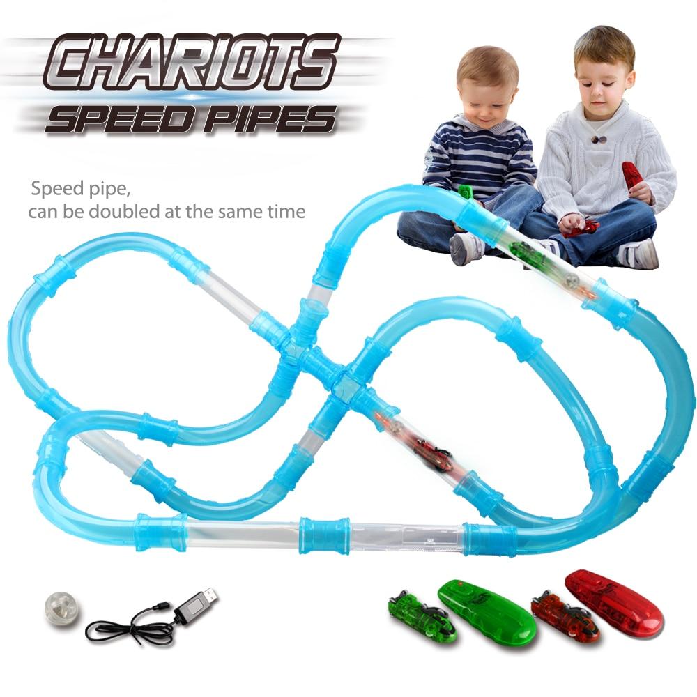 Magical Glow Racing Track Set Speed Pipes Juego de carreras de - Juguetes de construcción - foto 2