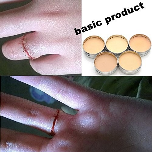 5 ngjyra Halloween Fake Scar Ward Wow Blocker Wax Effect Special Makeup Makeup profesional 3D Blade tat