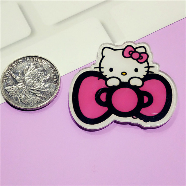 ca8c713eb New 1PCS Hello Kitty Cat Icon Badges for Clothing Acrylic Brooches Backpack  bags Decoration Cartoon girls love Pins Badge 250-in Pins & Badges from Home  ...