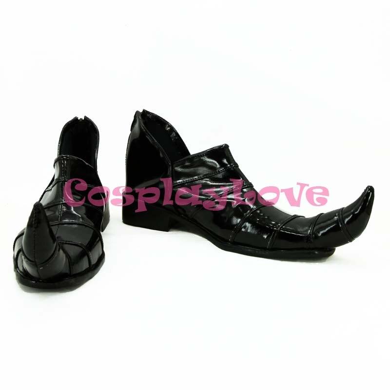 Newest Custom Made Japanese Black JoJo's Bizarre Adventure Dio Brando Cosplay Shoes Long Boots For Christmas Halloween Festival