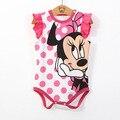 Verano Ropa de Bebé niño lindo Minnie Mickey de los bebés Recién Nacidos Ropa de Bebé Mamelucos Próximo Cuerpo Del Bebé Jumpsuit